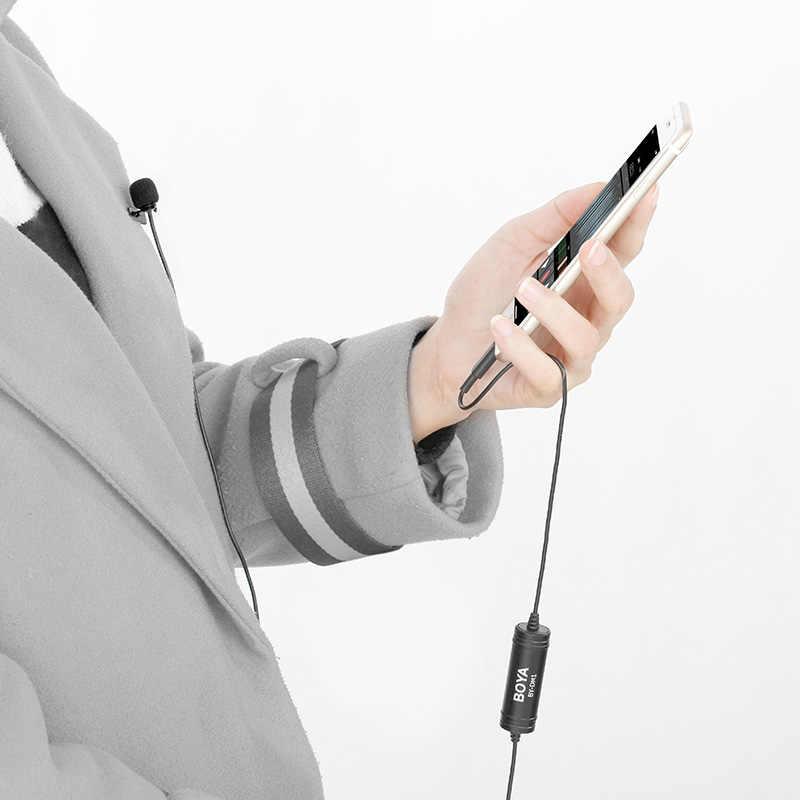 Resmi BOYA BY-DM1 Profesyonel Yaka Mikrofonu için iPhone X/8/8 Plus7 Artı iPad Mini 4/3 /2 iPad Pro iPad Air 2 iPod Dokunmatik