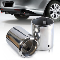 DWCX 2x STAINLESS STEEL EXHAUST TAIL REAR MUFFLER TIP PIPE For 2009 2010 2011 2012 2013