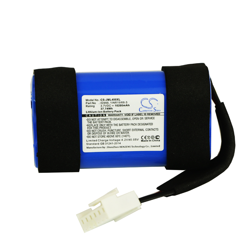 Cameron Sino 10200 mAh batterie 1INR19/66-3, ID998, SUN-INTE-118 pour JBL Charge 4, Charge 4BLK, Charge 4J, JBLCHARGE4BLUAM