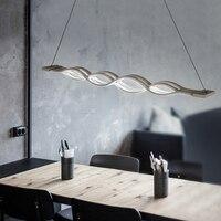 Волна Дизайн подвесные светильники для обеденный стол творческий бар лампы внутреннего светодио дный подвесной светильник светильники