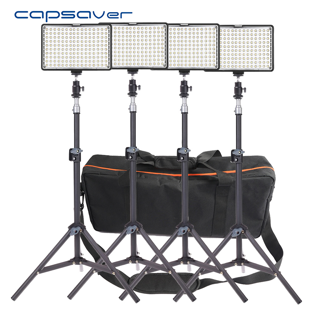 capsaver TL-160S 4 in 1 Kit LED Video Light Photographic Lighting Dimmable 3200K-5600K LED Studio Light Lamp Tripod Set тепловизор rgk tl 160