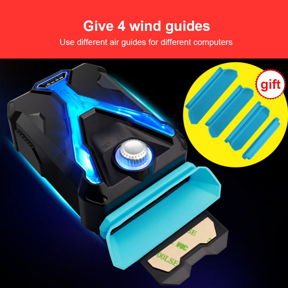 Image 4 - Hot Laptop Cooler Exhaust Processor cooling Fan USB Air Cooler Heatsink Radiator Extractor CPU Cooler for Notebook Laptop Gadget-in Laptop Cooling Pads from Computer & Office