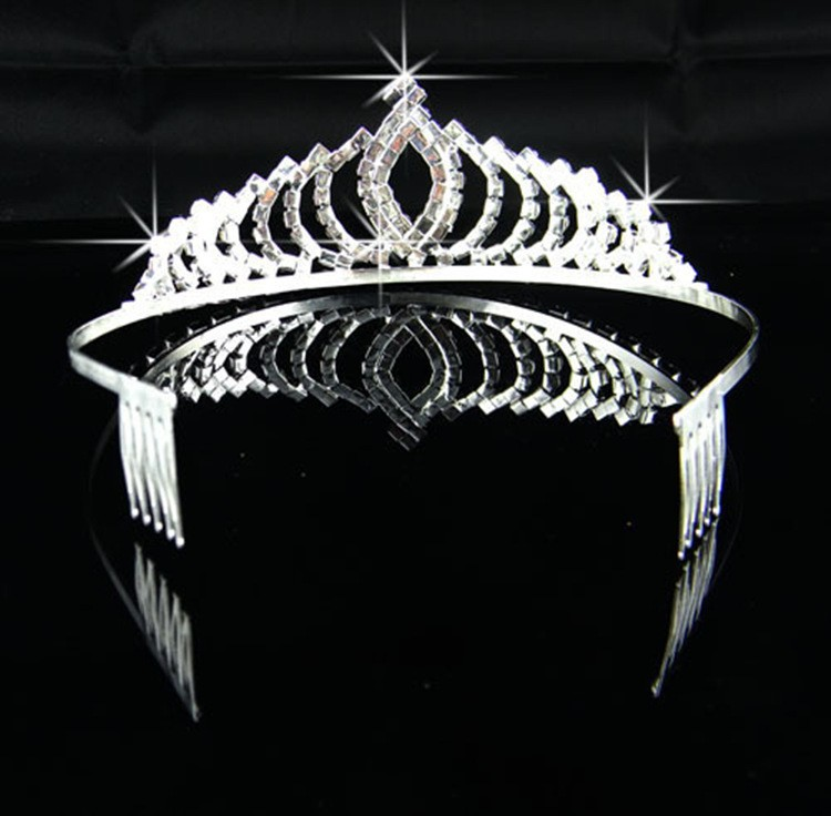 HTB1nnBaIFXXXXbOaXXXq6xXFXXXA Romantic Peach Rhinestone Crystal Bridal Pageant Prom Cosplay Crown Tiara