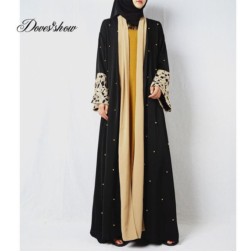 Fashion Muslim Dress Abaya in Dubai Islamic Clothing For Women Jilbab Djellaba Robe Musulmane Turkish Baju Robe Kimono Kaftan 12 contrast panel kimono sleeve kaftan dress