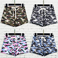 High Quality New Fashion Womens Green Camouflage Cotton Hot Shorts Female Summer High Waisted Casual Shorts Women SL074