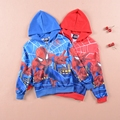 Retail 2017 Autumn Winter Children's Coat Boys Spiderman Hoodie Jackets Kids Winter Boys Coats And Jackets manteau enfant garcon