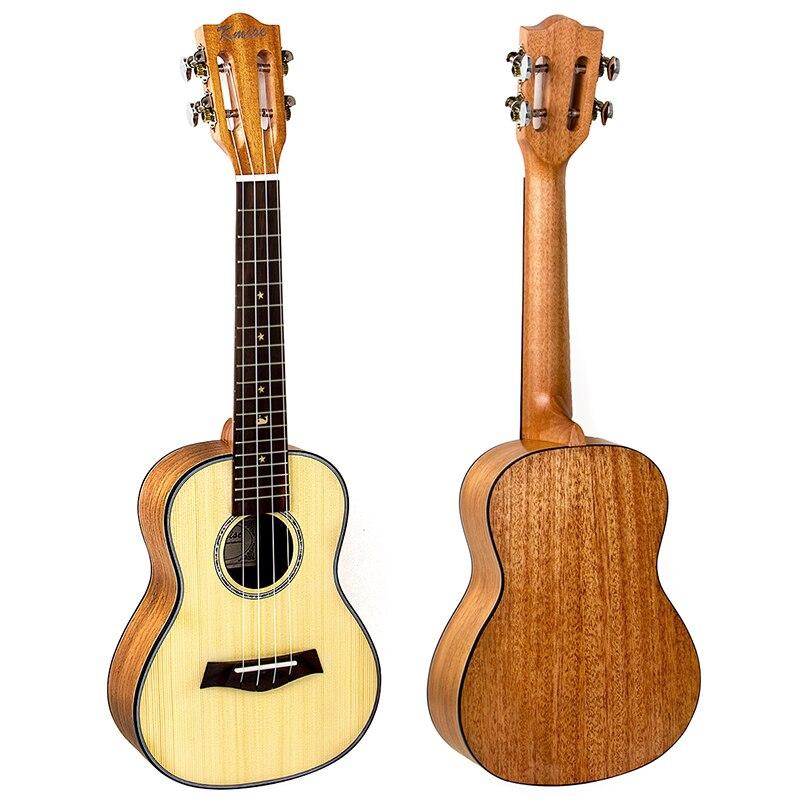 Kmise Concert Ukulélé Épicéa Massif Acajou Classique Guitare Tête 23 pouce Ukulélé Uke 4 Chaîne Hawaii Guitare