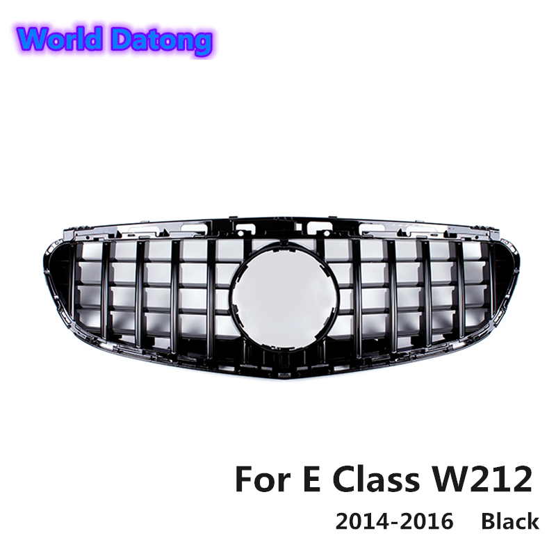 <font><b>W212</b></font> ABS material GT <font><b>grille</b></font> for <font><b>Mercedes</b></font> E <font><b>W212</b></font> sports AMG 4 package door sedan 2014 2015 2016 image
