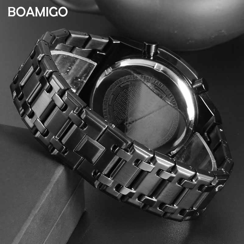 Relojes deportivos para Hombre, relojes de cuarzo de moda, para Hombre, relojes de pulsera de acero inoxidable de marca superior, Reloj impermeable, Reloj para Hombre