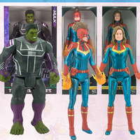 Captain Marvel Fighting Form Action Figure Avengers Endgame 32cm Hulk Captain Marvel Movable Model Decorations for Childrens