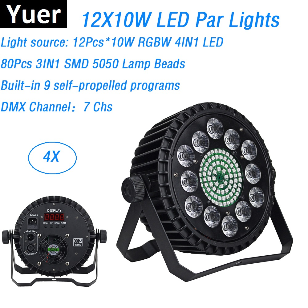 Newest 12X10W LED Flat Par Lights DMX Disco Lights Stage Wash Effect Dj Lights Perfect For Party Wedding Laser Projector lumiere