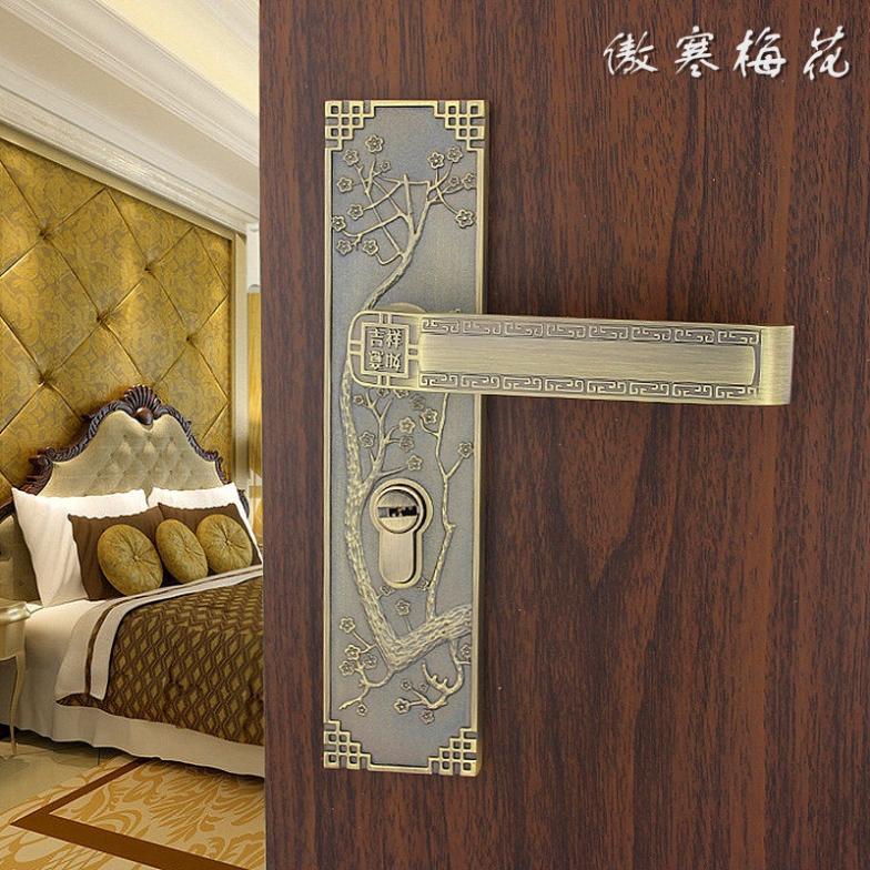 ФОТО Chinese interior wood door handle locks bedroom free shipping