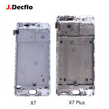 лучшая цена Replacement Parts For VIVO X7 X7 Plus LCD Display Touch Screen Panel Digitizer with Frame 5.2 inch 5.7 inch White Best Quality
