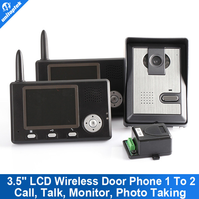 "Video Door Phone Intercom 2 In 1 3.5"" Wireless Video System Home The Storage Battery"