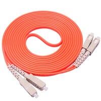 5 Pieces/Lot Jumper Cable SC SC SC To SC Fiber Optic Optical Patch Cord 3M Duplex Multimode