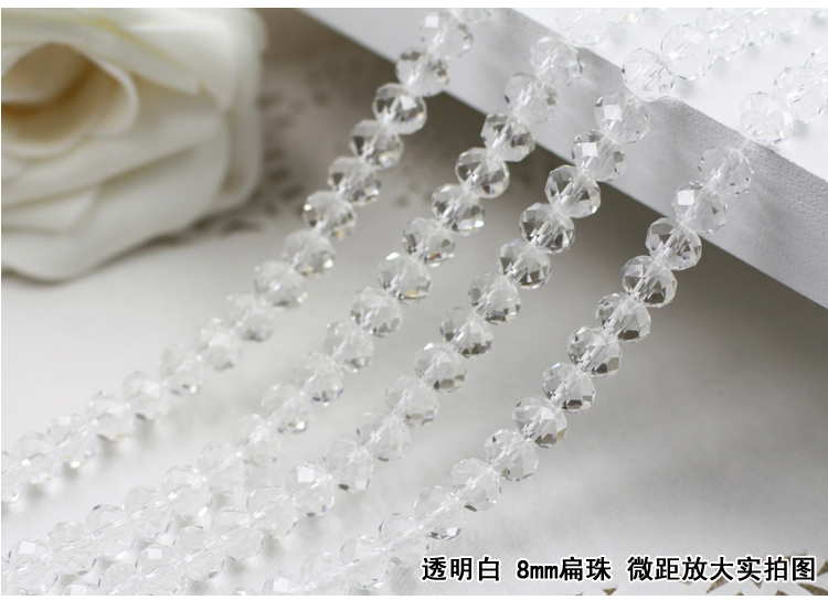 5040 AAA+ Crystal Clear Color Loose Glass Rondelle beads DIY Jewelry Accessories.2mm 3mm 4mm,6mm,8mm 10mm,12mm Free Shipping!