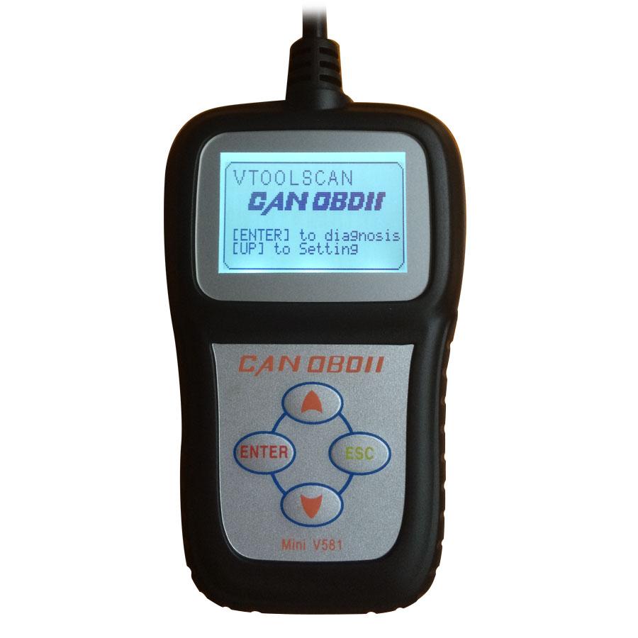Mini V581 CAN OBDII//EOBD Code Reader Scanner For Cars After 1996 Multi-language