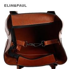 ELIM&PAUL 4 pcs Set Women Handbag Tote PU Leather Top-handle Bags Messenger Bag Women's Crossbody Bag Purses and Handbags Bolsas