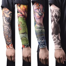 1Pc Nylon Tatoo Arm Stockings Warmer Cover Elastic Fake Temporary Tattoo Sleeves For Men Women New Arrival