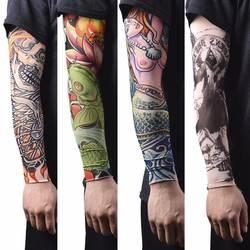 Шт. 1 шт. нейлон тату для рук чулки для женщин Рука теплая крышка эластичные Поддельные Временные татуировки рукава для мужчин Н