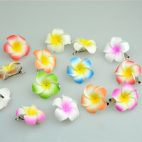 60PCS Women S Hair Accessories Foam Hairpin Frangipani Barrette Hawaiian Plumeria Flower Hair Clips Wedding Bridal