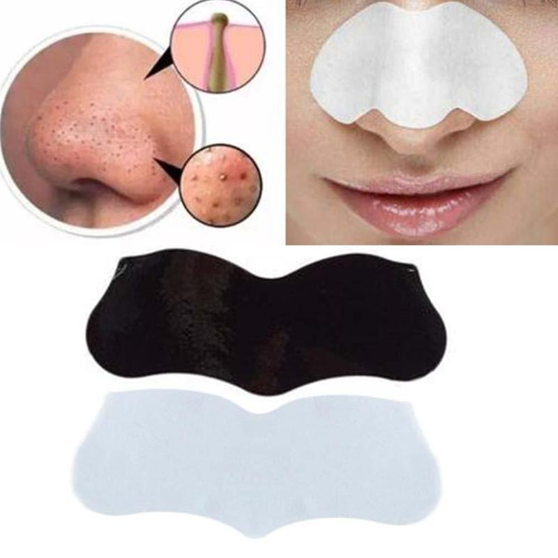 10PCS Bamboo Charcoal Blackhead Remover Deep Nose Pore Cleasing Strip
