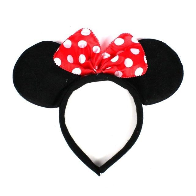 Halloween Christmas Children s Day Kids Children Baby Girl Minnie Mickey  Hairband Headband Headpiece Bow Knot for 6ea279a088b