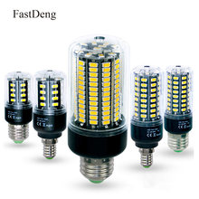 E27 LED Lamp E14 Energy Saving Bulb Corn SMD5736 AC 110V 220V 10 28 40 72 108 132 155 LEDs Candle Light Home Decoration Lighting(China)