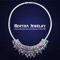Borlas Collar Colgante Made With Swarovski Elements Crystal Cadena Gargantilla Collares de Moda Para Los Regalos de Las Mujeres 2016 de la Marca