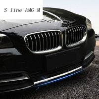 Car styling For BMW 5 series f10 Front Middle Grill Grids Trim Bumper Head Fog light decoration Stickers Covers auto Accessories