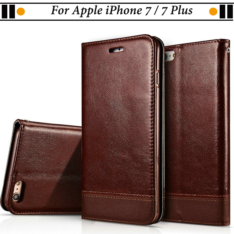 JURCHEN Phone Case For iPhone 7 Plus Case Luxury Soft Leather For iPhone7 Plus Funda For iPone 7 Plus Case ihone 7Plus Wallet