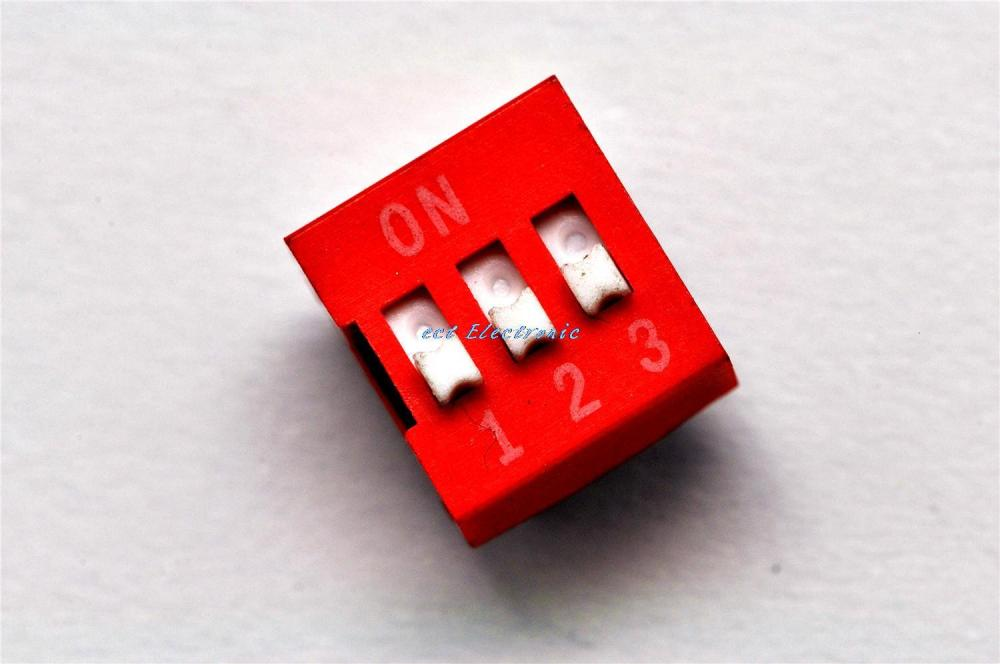3P 3 level DIP 2.54MM red toggle switch coding dial switch data-chosen-switches
