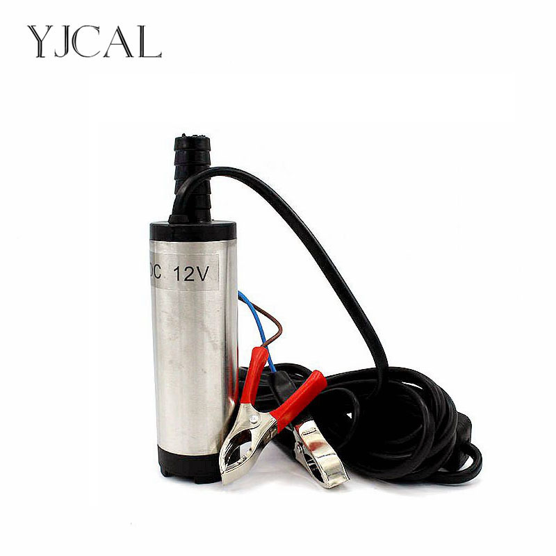 Submersible Diesel Fuel Water Oil Pump Diameter 38MM Stainless Steel DC 12V 24V 12L/Min 40W Car Camping Portable With Switch 51mm dc 12v water oil diesel fuel transfer pump submersible pump scar camping fishing submersible switch stainless steel