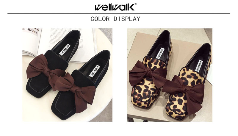 Wellwalk Ballet Flats Woman Shoes Leopard Loafers Women Ballerina Flats Shoes Ladies Black Flats Female Moccasins Shoes Spring 9