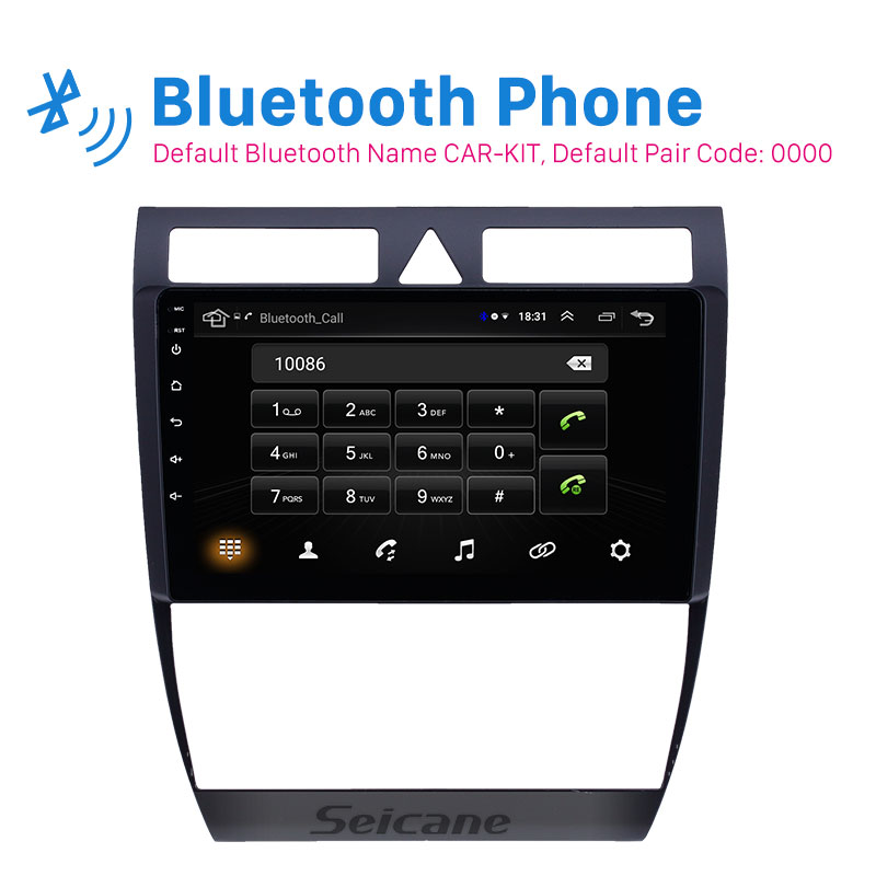 Seicane GPS car Radio HD Touchscreen 9 inch 2din <font><b>Android</b></font> 8.1 for <font><b>Audi</b></font> <font><b>A6</b></font> S6 RS6 1997 1998 -<font><b>2004</b></font> WIFI AUX USB support Carplay image