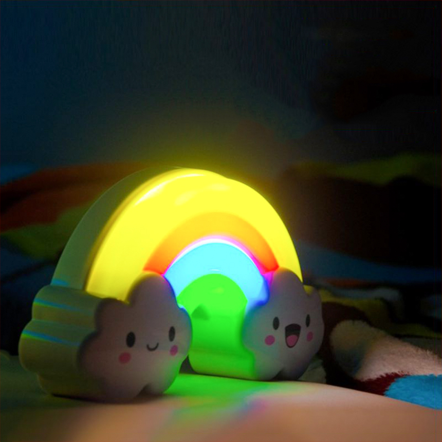 Cute Colorful Rainbow Led Night Light Voice Control