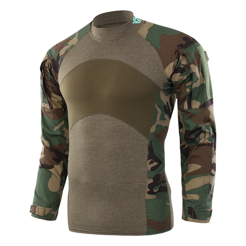 TACTICAL Gear Camouflage Army T-Shirt Men RU Soldiers Combat Tactical T Shirt Military Force Multicam Camo Long Sleeve T Shirt