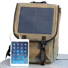 6.5W 15.6-inch solar business casual laptop bag large capacity shoulder bag simple solar panel charging bag