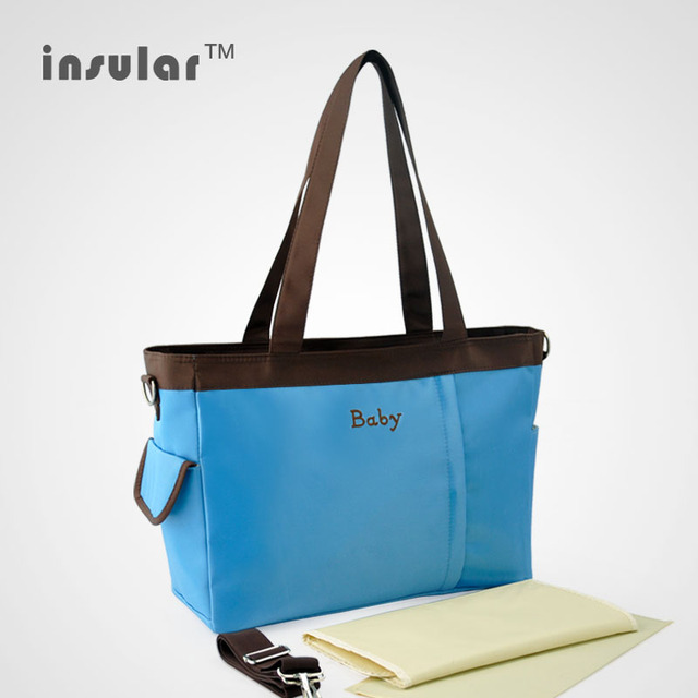 Simple soild color Diapers Bags,large capacity Baby Nappy bags,Handbags travel bag for Mom -8770