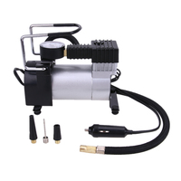 DC 12V Electric Car Inflatable Pumping Air Pumps Compressor 100 PSI Auto Cigarette Lighter Plug Metal