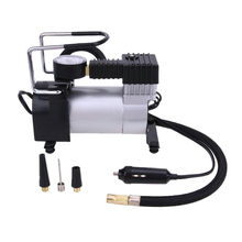DC 12V Electric Car Inflatable Pumping Air Pumps Compressor 100 PSI Auto  Cigarette Lighter Plug Metal Shell for Durable Use