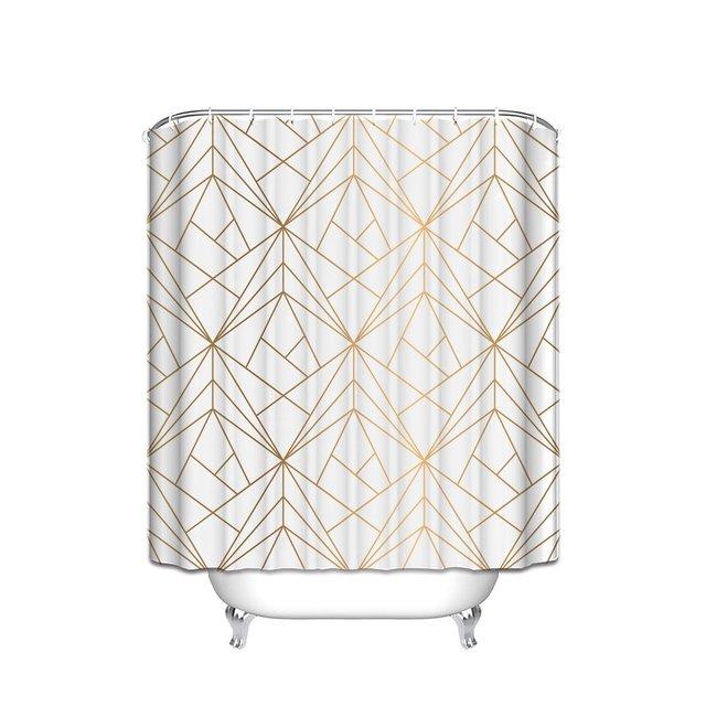 CHARMHOME Geometrica Oro Linea di Poliestere Impermeabile Tessuto Tenda Della Do