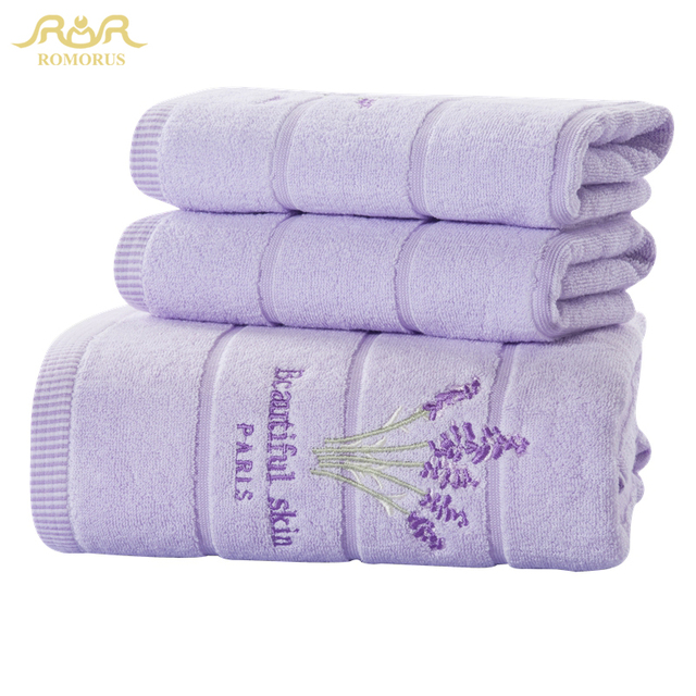 2016 100% Cotton Embroidered Towel Sets Bamboo Beach Bath Towels for Adults  Luxury Brand High