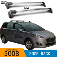 SHITURUI 2Pcs Roof bars For PEUGEOT 5008 2009 2017 Aluminum Alloy Side Bars Cross Rails Roof Rack Luggage Carrier
