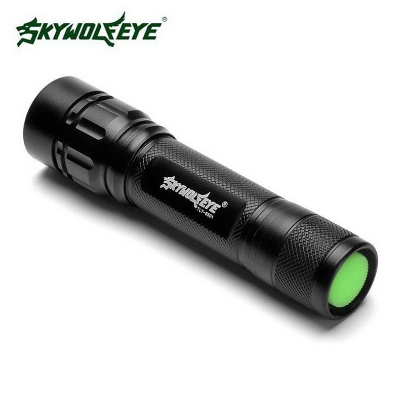 High Quality Skywolfeye Brand Outdoor Flashlight XPE LED 18650 Tactical Flashlight Zoomable Aluminum Alloy Flashlight VEJ93 meco xpe q5 600 lumen 7w zoomable led flashlight for 1xaa 1 2v