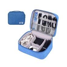 Полиэфирная цифровая сумка для хранения переносное зарядное устройство для путешествий Кабели USB электронный органайзер аксессуары чехол для наушников переноски