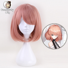 35cm Short Pink Wig Cosplay Costume Ponytail Synthetic Hair Wigs For Women High Temperature Fiber цена 2017
