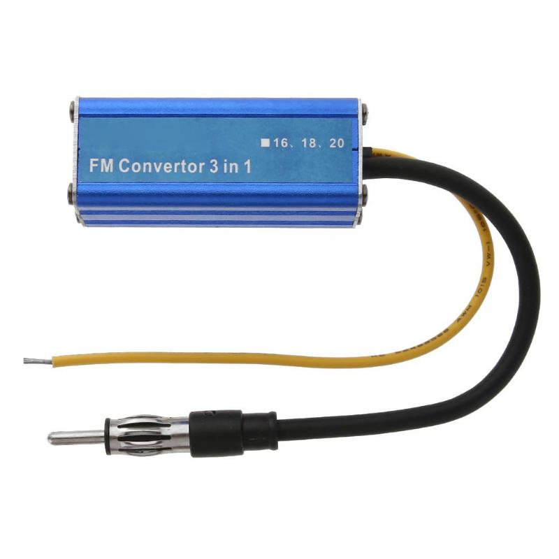 VODOOL 12V 3 in 1 Car Frequency Antenna Radio FM Band Expander Car Auto Stereo Antenna FM Radio Band Frequency Converter New fm micro smd radio diy kits fm frequency modulation radio electronic production training suite hx3208 1 8v 3 5v