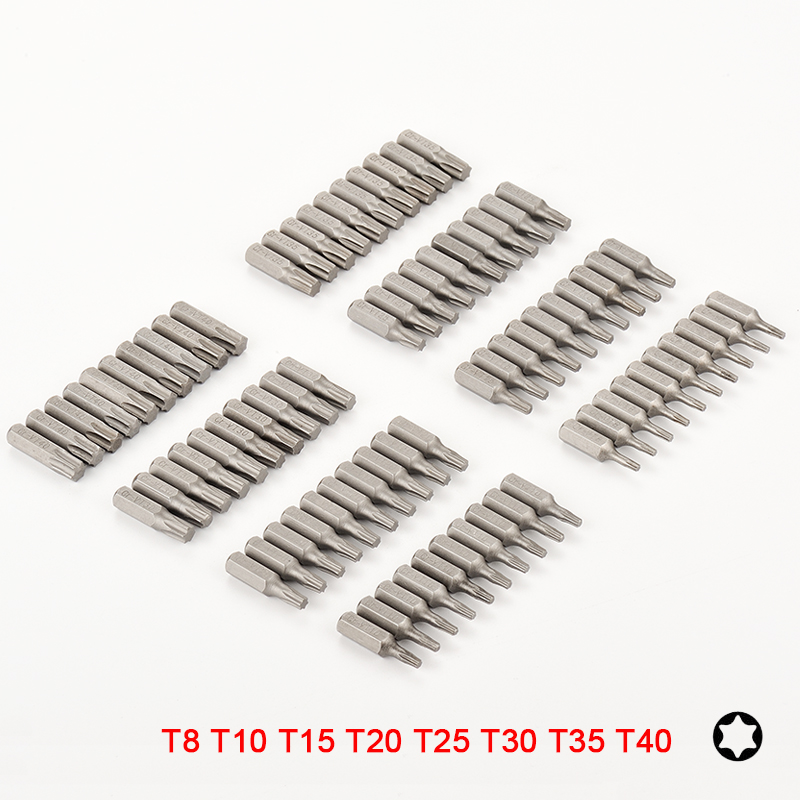 10 Or 8pcs Torx Screwdriver Bit Set 1/4 Hex Shank Star T8 T10 T15 T20 T25 T30 T35 T40 Screw Driver Bits For Home Hand Tools