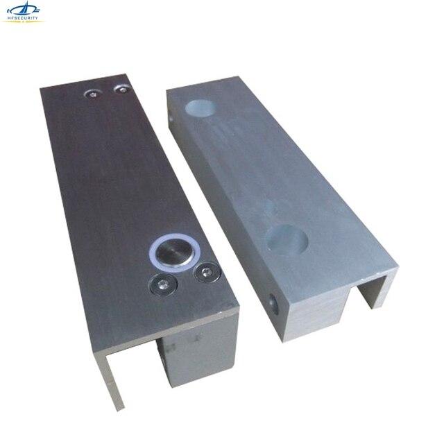 Hfsecurity Frameless Glass Door Electronic Bolt Lock Bracket Em 1000kg 2204lb Holding Force Eletric